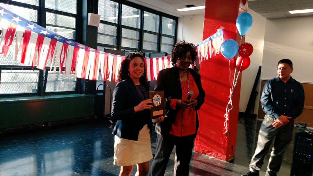 Assemblywoman Latoya Joyner was honored to receive recognition from Community Education Council District 9.<br /> <br />