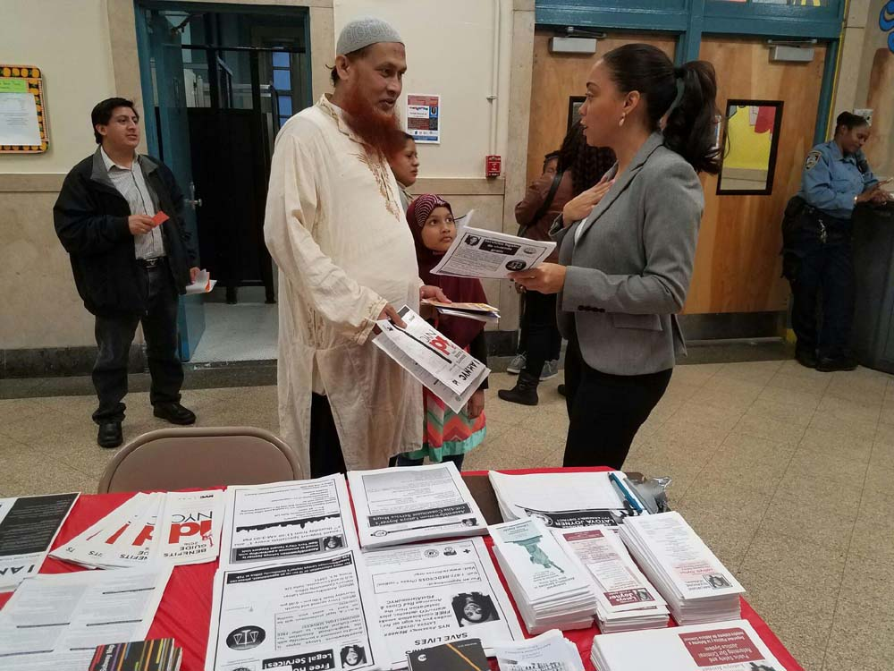 Assemblywoman Latoya Joyner hosted a free immigration fair at the Family School and the Sheridan Academy for Young Leaders with the help of organizations from the Bronx Immigration Partnership.