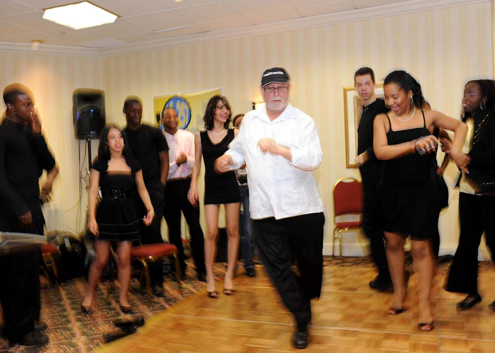 Dancing Salsa is one of Mr. Rivera&#39;s many talents.<br />&nbsp;