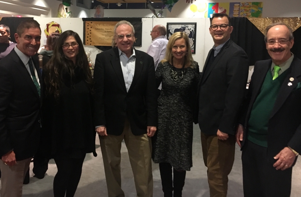 State Senator Jeff Klein, Farrah Reubin, Assemblyman Dinowitz, Tracy Shelton Council Member Cohen and Congressman Engel at the RKA Auction Saturday March 18th.<br /><br />