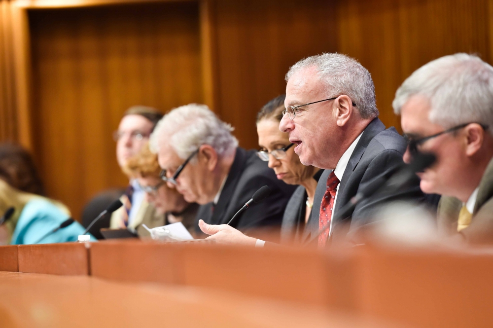 Assemblyman Dinowitz speaking as Chair of the Committee on Corporations Authorities and Commissions during today's hearing on the Public Service Commission's Clean Energy Standard.<br /> <br />