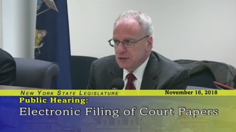 Dinowitz Discusses Electronic Filing for Housing Court
