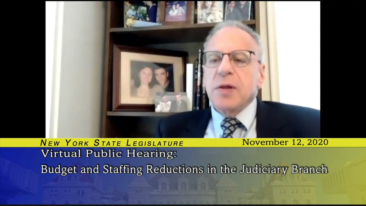 Public Hearing Examining Budget and Staffing Reductions in the Judiciary Branch