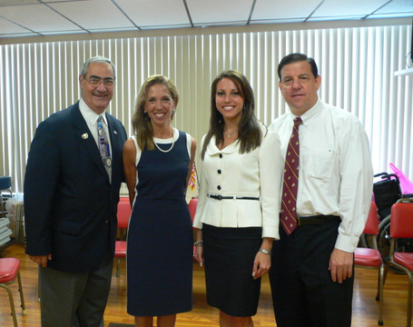 (From L to R) County Legislator Vito Pinto, Assemblywoman Amy R. Paulin, Miss NY Alyse Zwick and County Legislator Jim Maisano after Assemblywoman Amy R. Paulin's Cold War veterans press conference in Eastchester, NY.