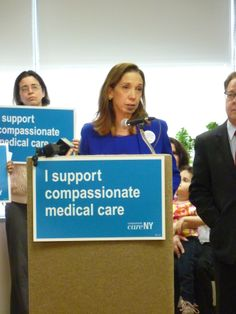 Amy Paulin hosted a press conference on March 14, 2014 about the Compassionate Care Act, which would legalize medical marijuana in New York State.