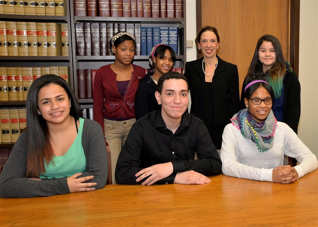 Assemblywoman Paulin with members of The White Plains Youth Bureau.