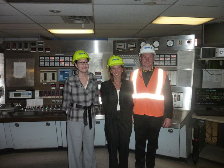 At the Covanta Energy Plant with Michael Cavaliere,  the plant's business manager, and Bonny Betancort, the company's director of governmental relations.