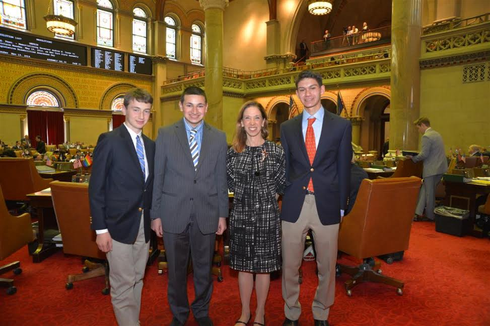 The League of Women Voters State Education Foundation sponsored its Students Inside Albany Conference this week and Assemblywoman Amy Paulin was able to meet with students from Scarsdale and New Rochelle High Schools.