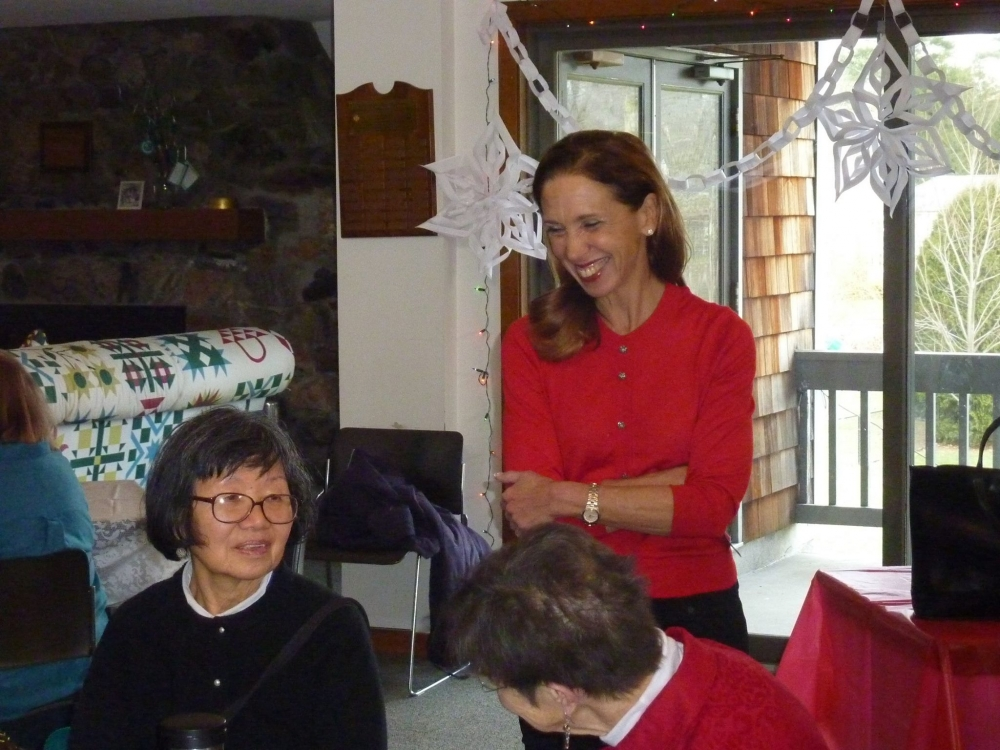 Assemblywoman Amy Paulin delivered holiday cookies to the Scarsdale Seniors at the Girl Scout House.
