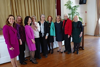 Amy Paulin handed out the Bronxville Women of Distinction Awards on March 22. It marked the second consecutive year in which she has honored women from a town in her district. Last year it was Pelham. Eight of the 10 ladies honored were on hand, including Mayor Mary Marvin.