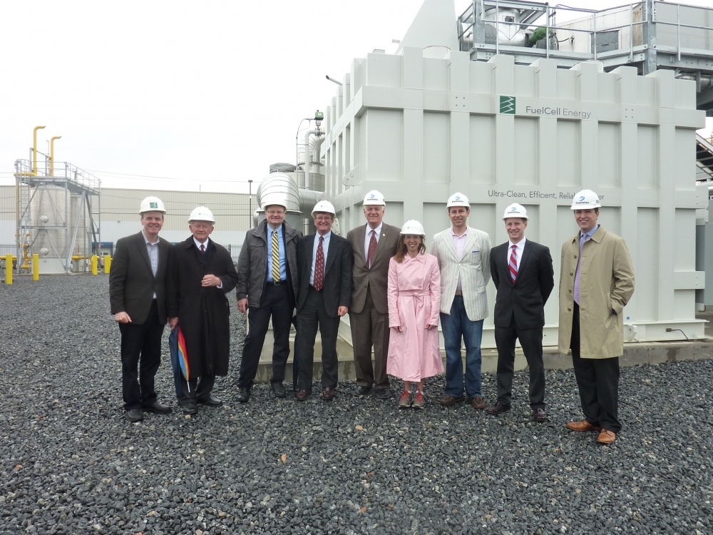 Assemblywoman Paulin, in her capacity as NYS Energy Chair, visited the Dominion Bridgeport Fuel Cell site in Bridgeport, Ct. on April 7. She was joined by other legislators and politicians from New York and Connecticut, including Bridgeport Mayor Bill Finch, to discuss the possibilities of employing such technology in New York.