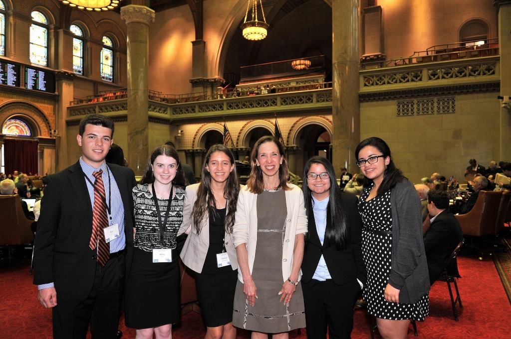 Students from Scarsdale and White Plains High Schools visited Assemblywoman Amy Paulin in Albany.