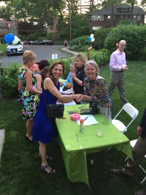 Assemblywoman Amy Paulin with Carol Desmond at the Pelham Preservation fundraiser.