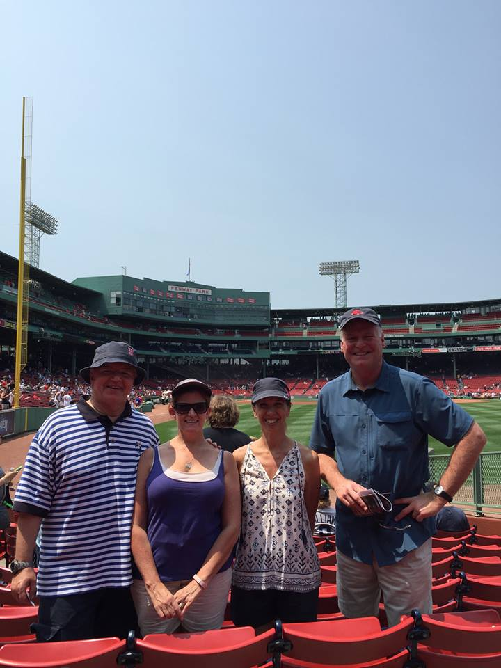 Assemblywoman Amy Paulin at Fenway Park with her Assembly colleagues.