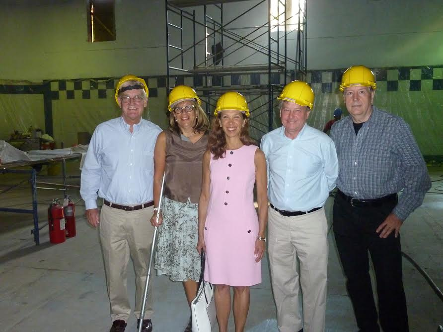 Assemblywoman Amy Paulin and Assemblyman Steve Otis were at the New Rochelle YMCA on Sept. 1 to check on the reconstruction of the center's pool. Paulin and Otis were instrumental in securing funds for the pools reconstruction.