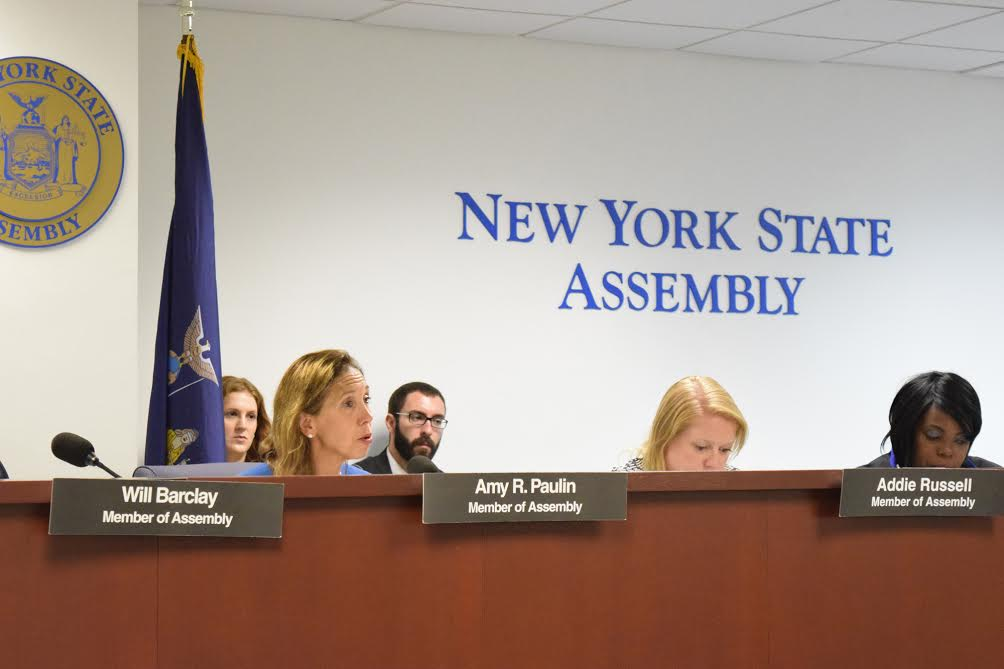 "Assemblywoman Amy Paulin, who is the chairperson of the State Energy Committee, participated in Assembly Committee on Energy's Hearing on ""The Future of Renewable Energy Development Programs in NYS."""
