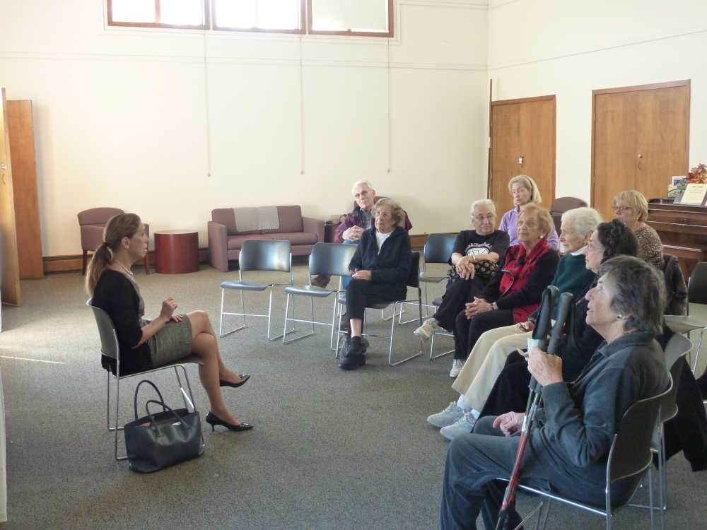 Assemblywoman Amy Paulin hosted a discussion at the Girl Scout House in Scarsdale with the Scarsdale Seniors. The presentation centered on what's new in Albany.