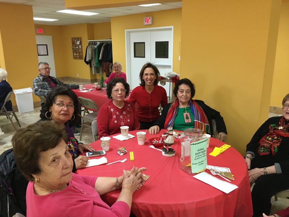Assemblywoman Amy Paulin handed out holiday cookies and visited at the Scarsdale Senior Center.