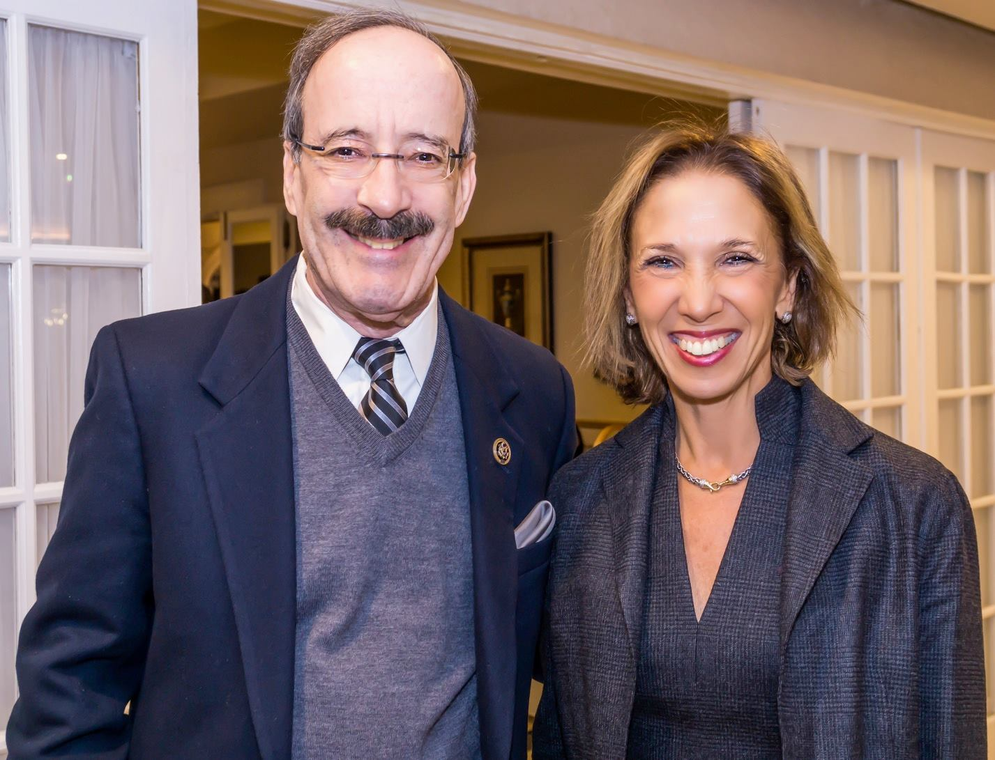 Amy and Congressman Eliot Engel at the Westchester Day School Dinner. The picture is courtesy of Michael Turek.