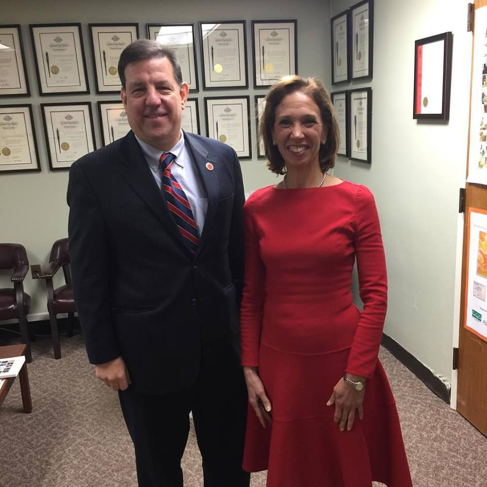 Westchester County Legislator Jim Maisano stopped by to visit with Assemblywoman Amy Paulin while he was in Albany for the State-of-the State address.