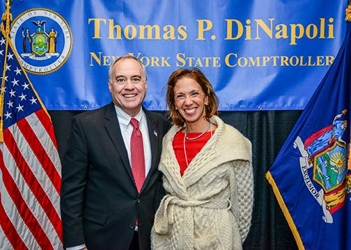 Assemblywoman Amy Paulin with NYS Comptroller Thomas DiNapoli.