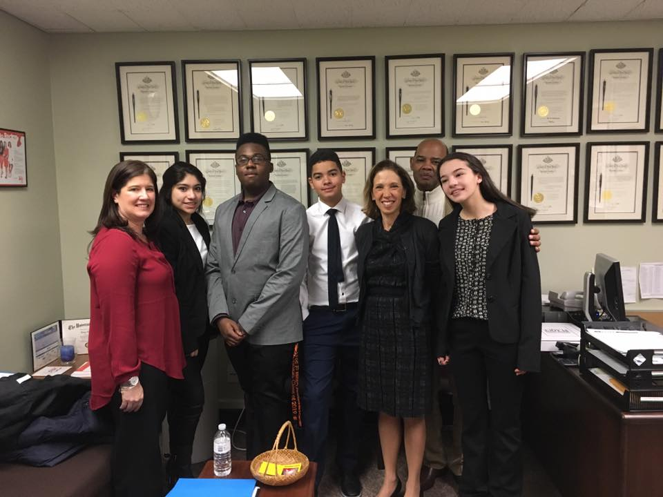 The folks from The White Plains Youth Bureau stopped by Assemblywoman Amy Paulin's office recently to share some ideas.