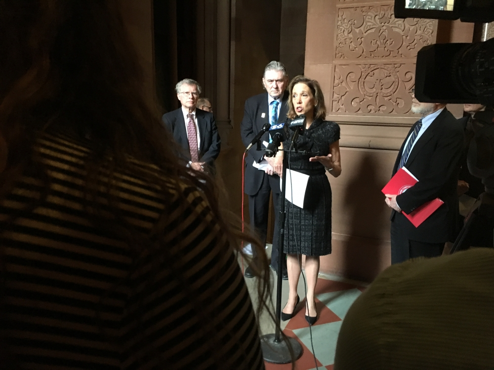 Assemblywoman Amy Paulin hosted a press conference on Feb. 9 to discuss the Aid in Dying legislation she authored.