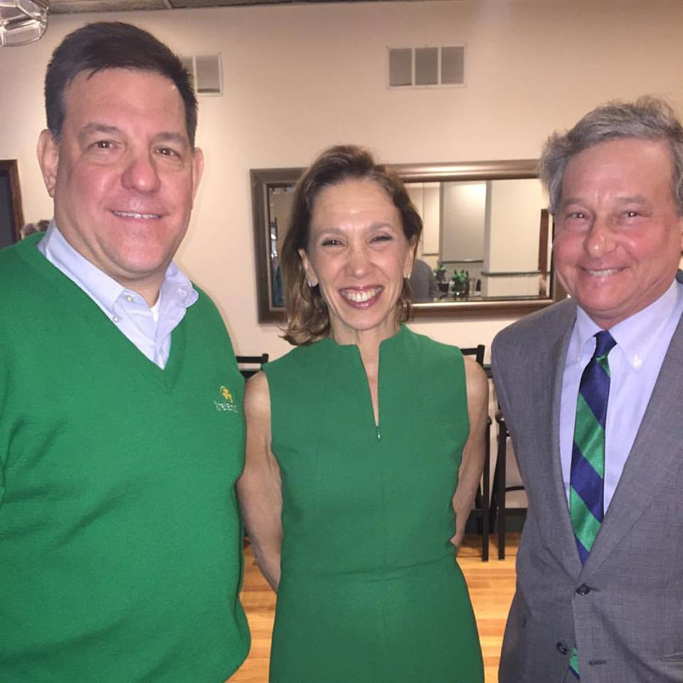 Assemblywoman Amy Paulin attended the New Rochelle Irish Benevolent Society's St. Patrick's Day party with Westchester County Legislator Jim Maisano and State Assemblyman Steve Otis.