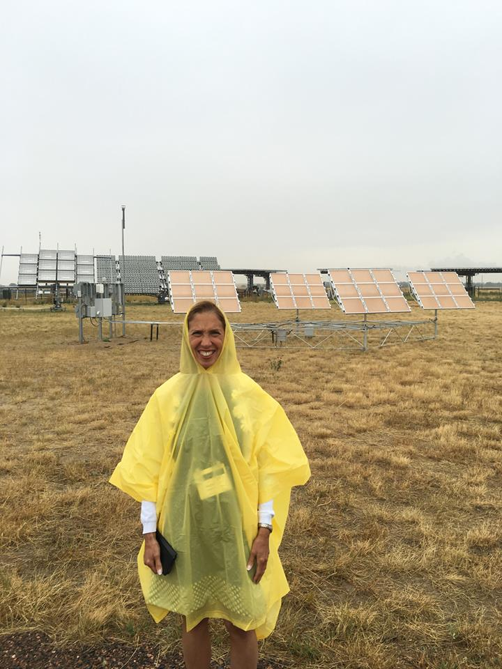 Assemblywoman Amy Paulin, who is the NYS Energy Committee Chair, attended an energy conference in Denver. She visited a solar farm as part of the conference but Mother Nature wasn't cooperating.<br />