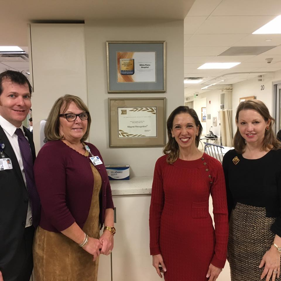 Assemblywoman Amy Paulin toured White Plains Hospital, which was recently named as a Magnet hospital. She visited several departments in the hospital, including the NICU, and discussed the state of healthcare in New York. <br />