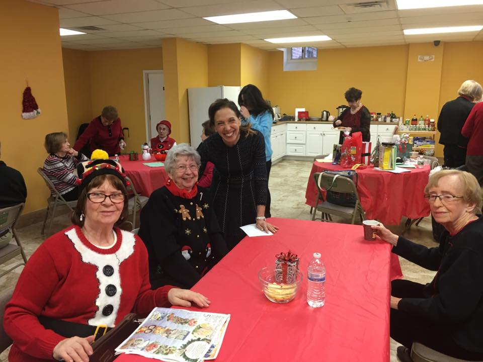 Assemblywoman Amy Paulin delivered holiday cookies to the Eastchester seniors.<br />