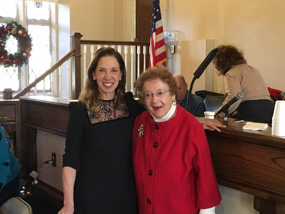 Assemblywoman Amy Paulin handed out holiday cookies to the Pelham Seniors Organization.<br />