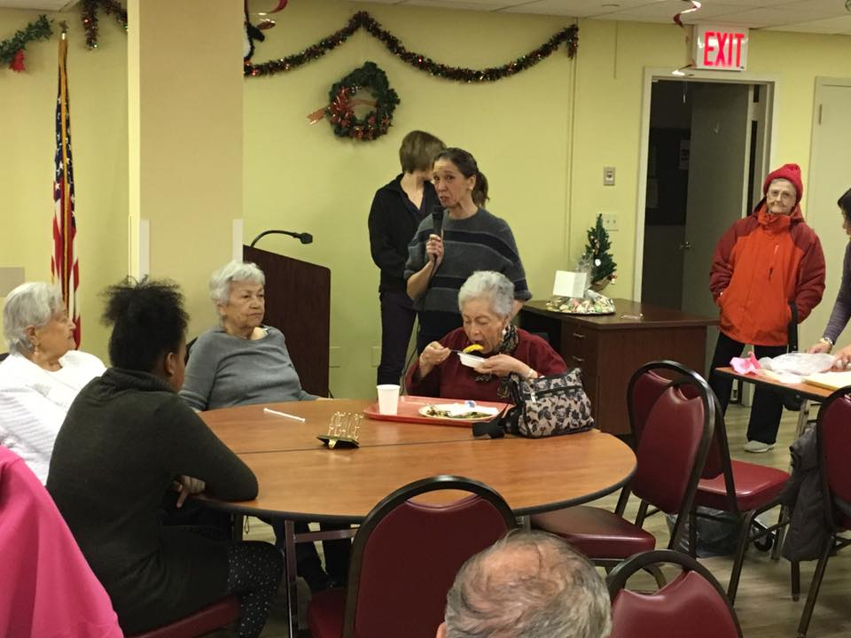 Assemblywoman Amy Paulin handed out holiday cookies to the seniors in White Plains.<br />