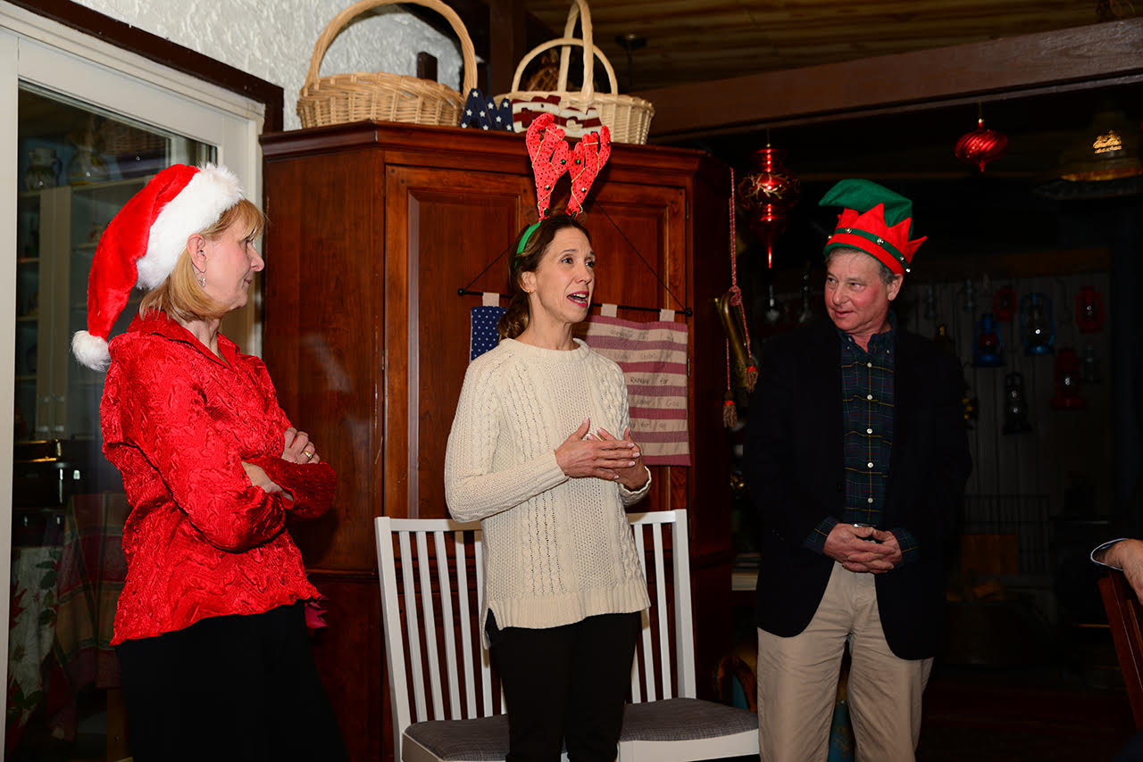 Assemblywoman Amy Paulin spoke at the New Rochelle Greenhouse Holiday Party.<br />