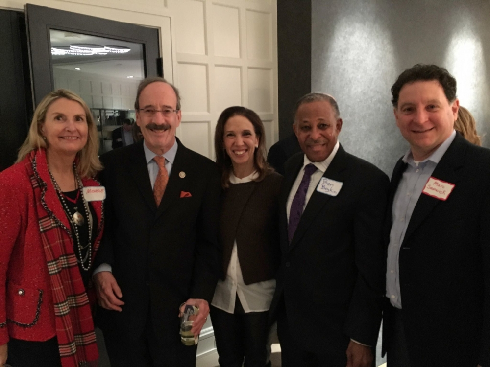 Assemblywoman Amy Paulin was at the Scarsdale League of Women Voters event with Congressman Eliot Engel.<br />