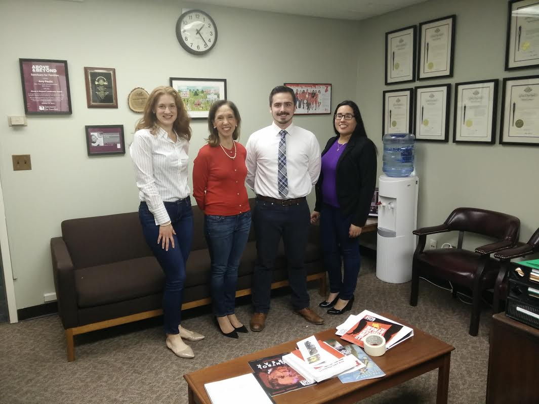 Amy Paulin's Albany office staff observed Denim Day on April 26.<br /><br />