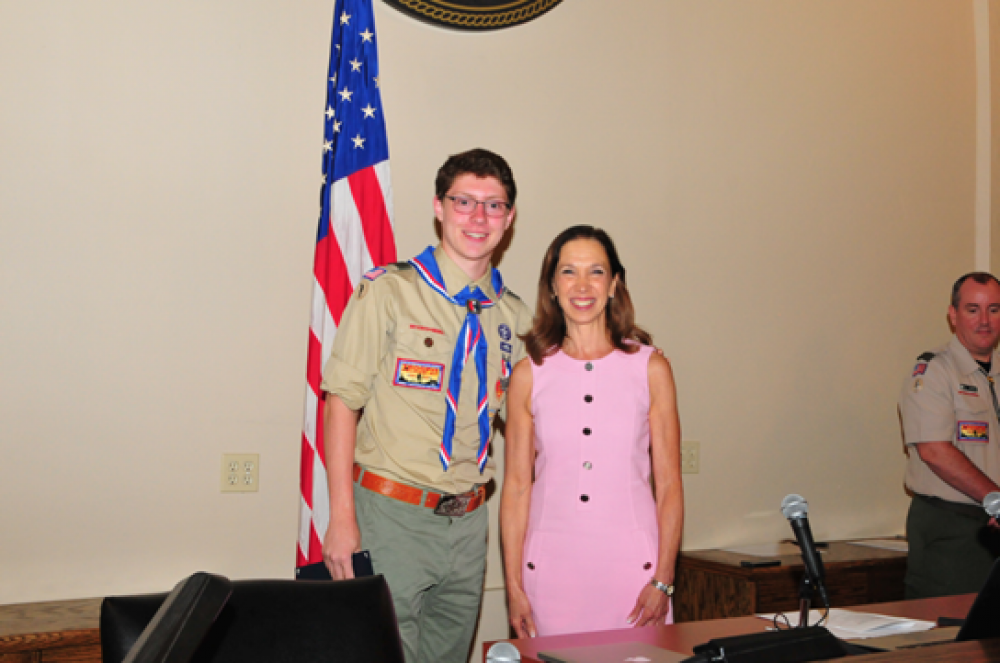 Assemblywoman Amy Paulin attended the Eagle Scout Court of Honor ceremony for Pelham's Matthew Spana and presented him with a New York State Assembly citation.<br />