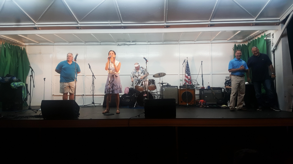 Assemblywoman Amy Paulin spoke at the Grucci Fireworks Show in Tuckahoe.<br />
