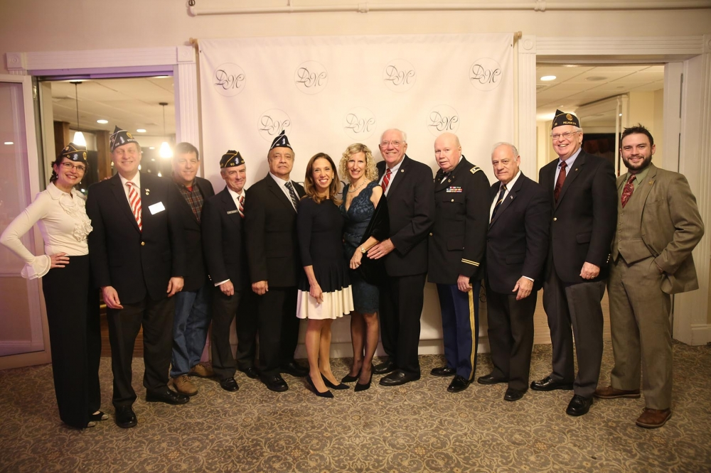 Assemblywoman Amy Paulin celebrated Veterans Day with Pelham vets at The Davenport Club.<br />&nbsp;