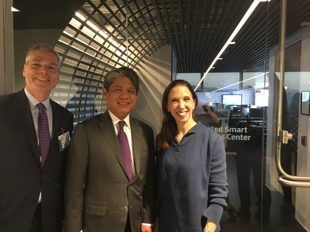 Assemblywoman Amy Paulin toured the New York Power Authority facility in White Plains with White Plains mayor Tom Roach and NYPA President/CEO Gil Quiniones on Jan. 11<br />&nbsp;