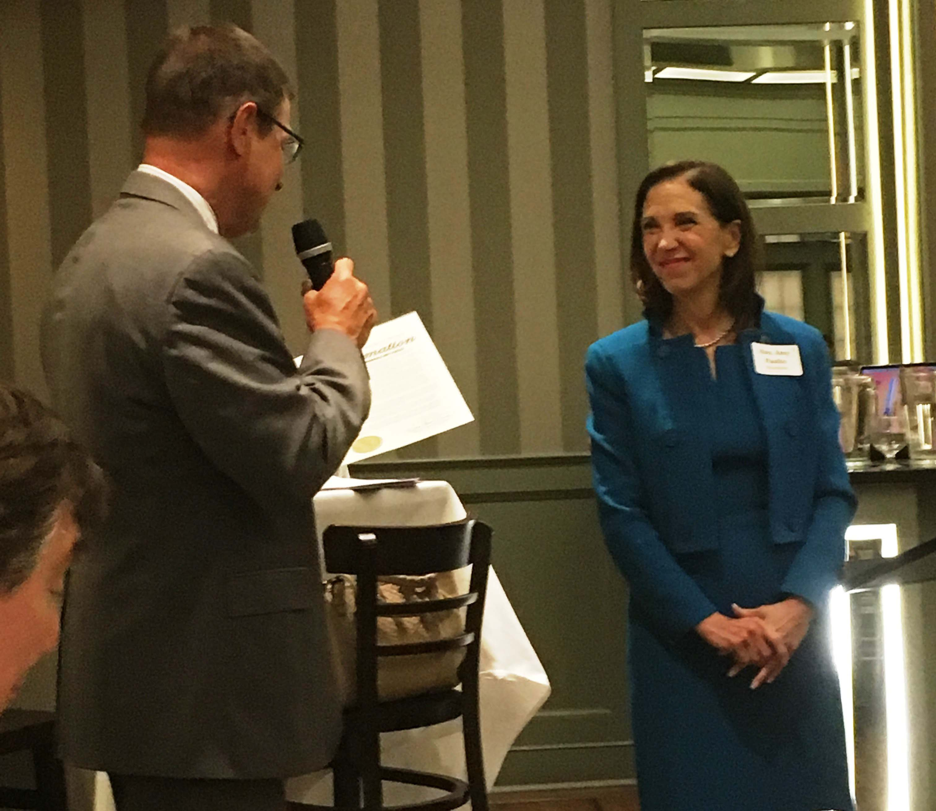 Assemblymember Amy Paulin was honored at the Westchester Regional Benefit for New Yorkers Against Gun Violence Education Fund on April 26, 2018. The event also honored former NYAGV Executive Director