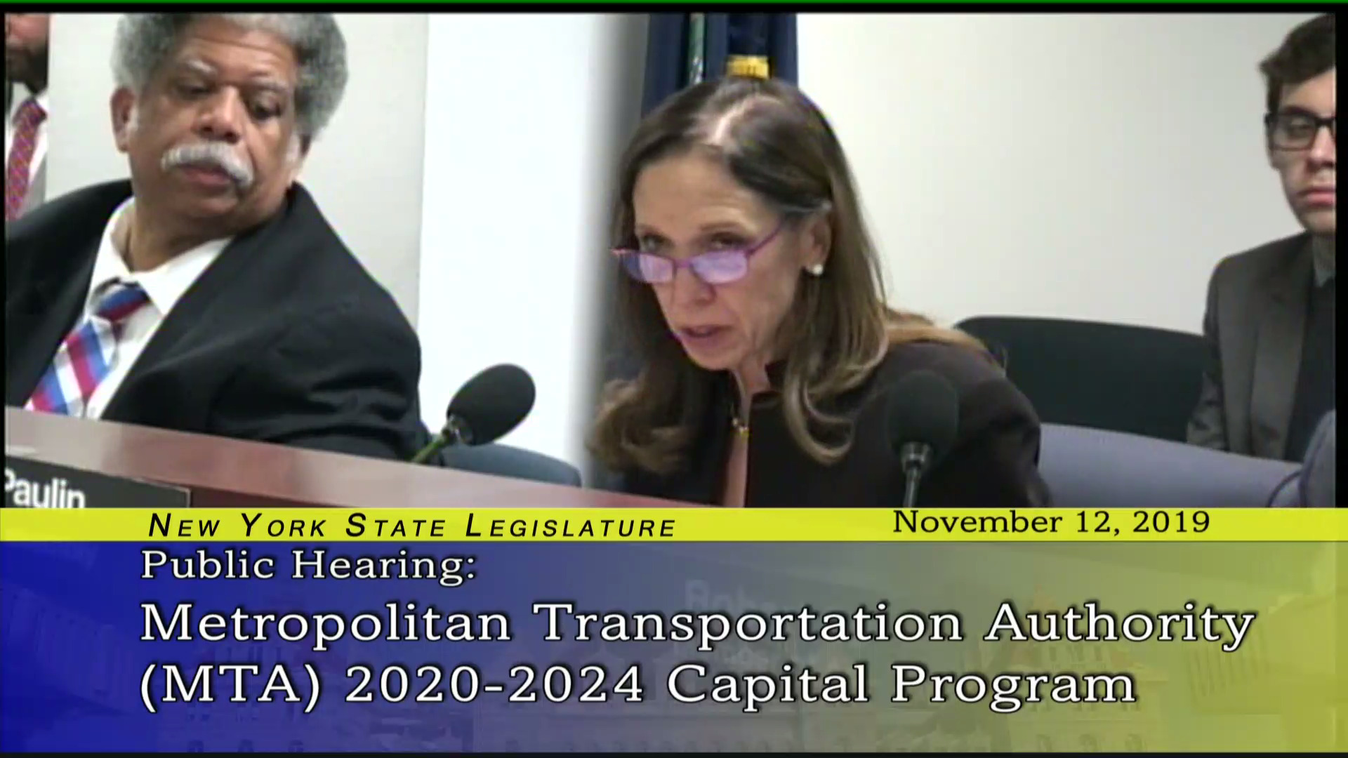 Paulin Asks MTA Leadership about Congestion Pricing