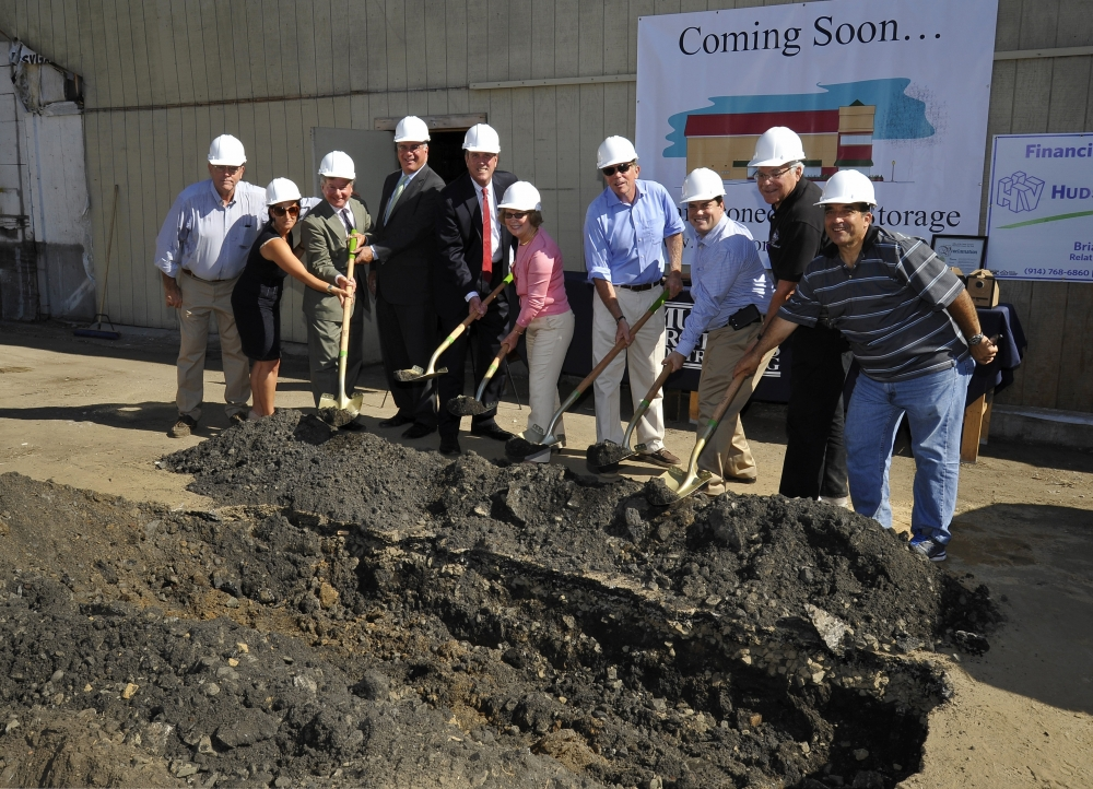 Assemblyman Otis participates in the ground-breaking of the latest venture of Murphy Brothers Contracting, Mamaroneck Self-Storage. This state-of-the-art green building storage facility is scheduled to open on Labor Day weekend 2015.