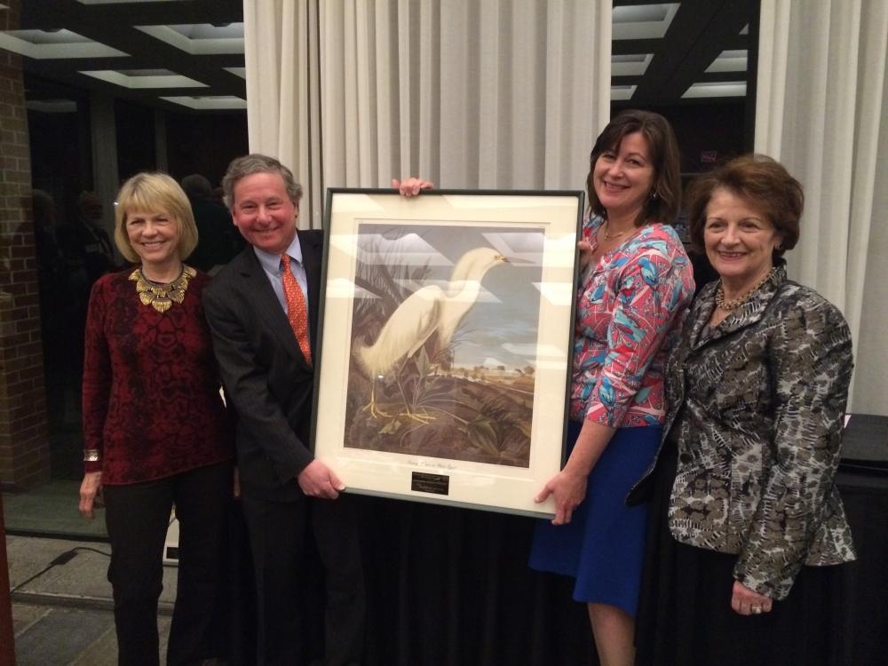 Assemblyman Steve Otis presented the 2016 William Hoyt Environmental Excellence Award by Virginia Stowe, Board Chair of Audubon New York, Erin Crotty, Executive Director of Audubon New York and Marcy Boyle, Chair of Audubon Council of New York State.