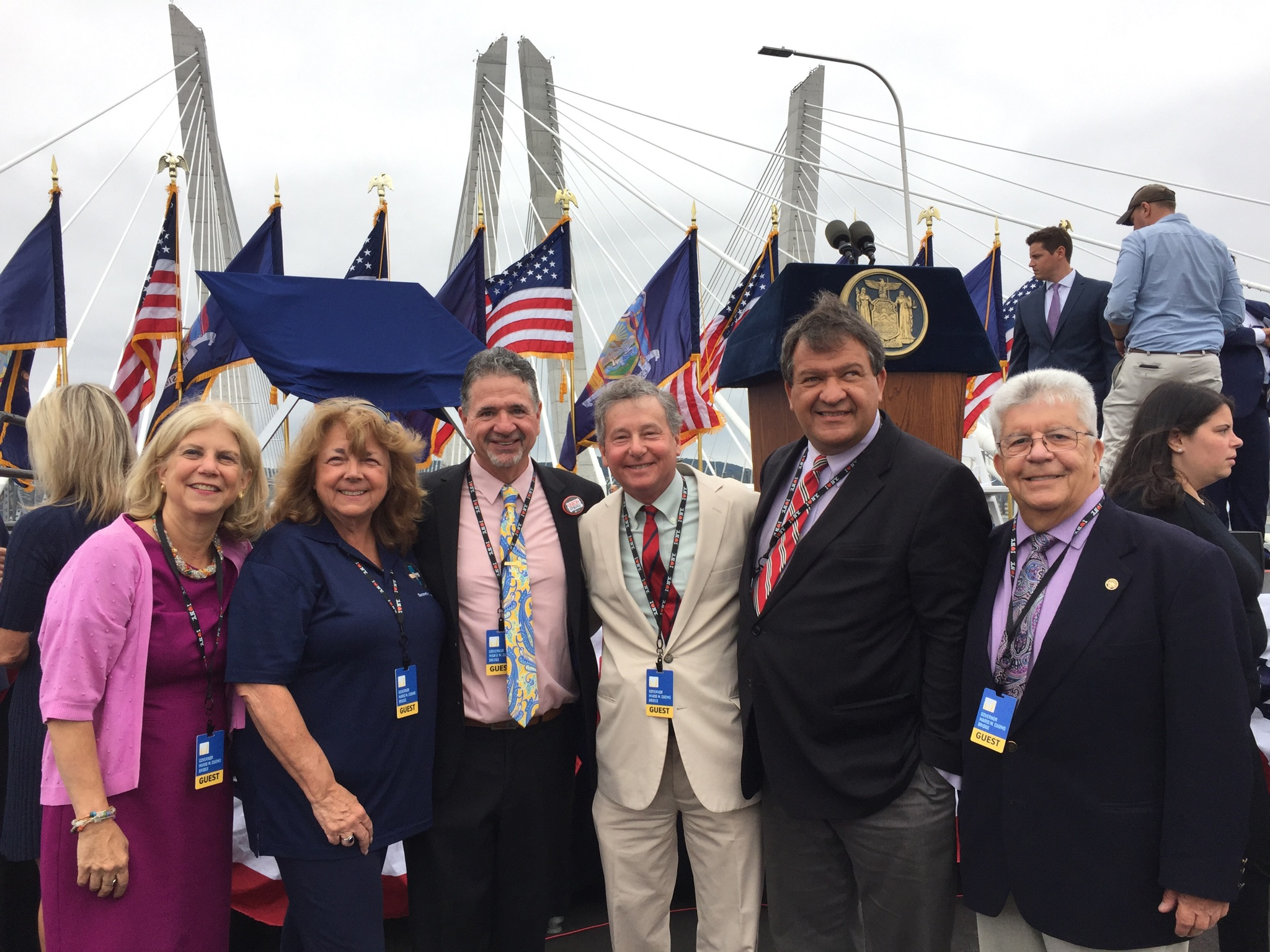 Assemblyman Steve Otis at the Opening Ceremony of the 2nd span of the Mario M. Cuomo Bridge