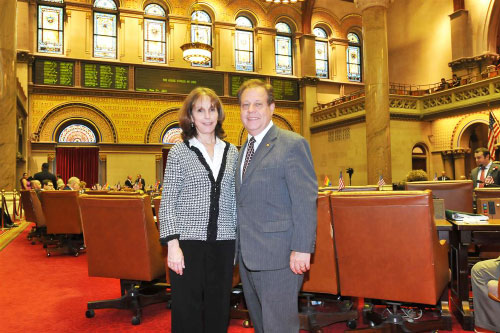 Assemblyman Abinanti with Joanne Sold, Chief of Staff & Counsel.