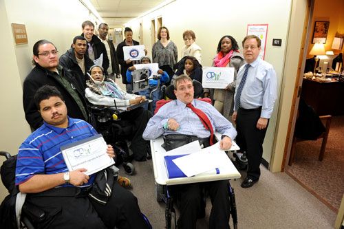 Assemblyman Abinanti met with Cerebral Palsy Associations of New York State to discuss the Governor's proposed cuts to the funding of services for people with developmental disabilities.