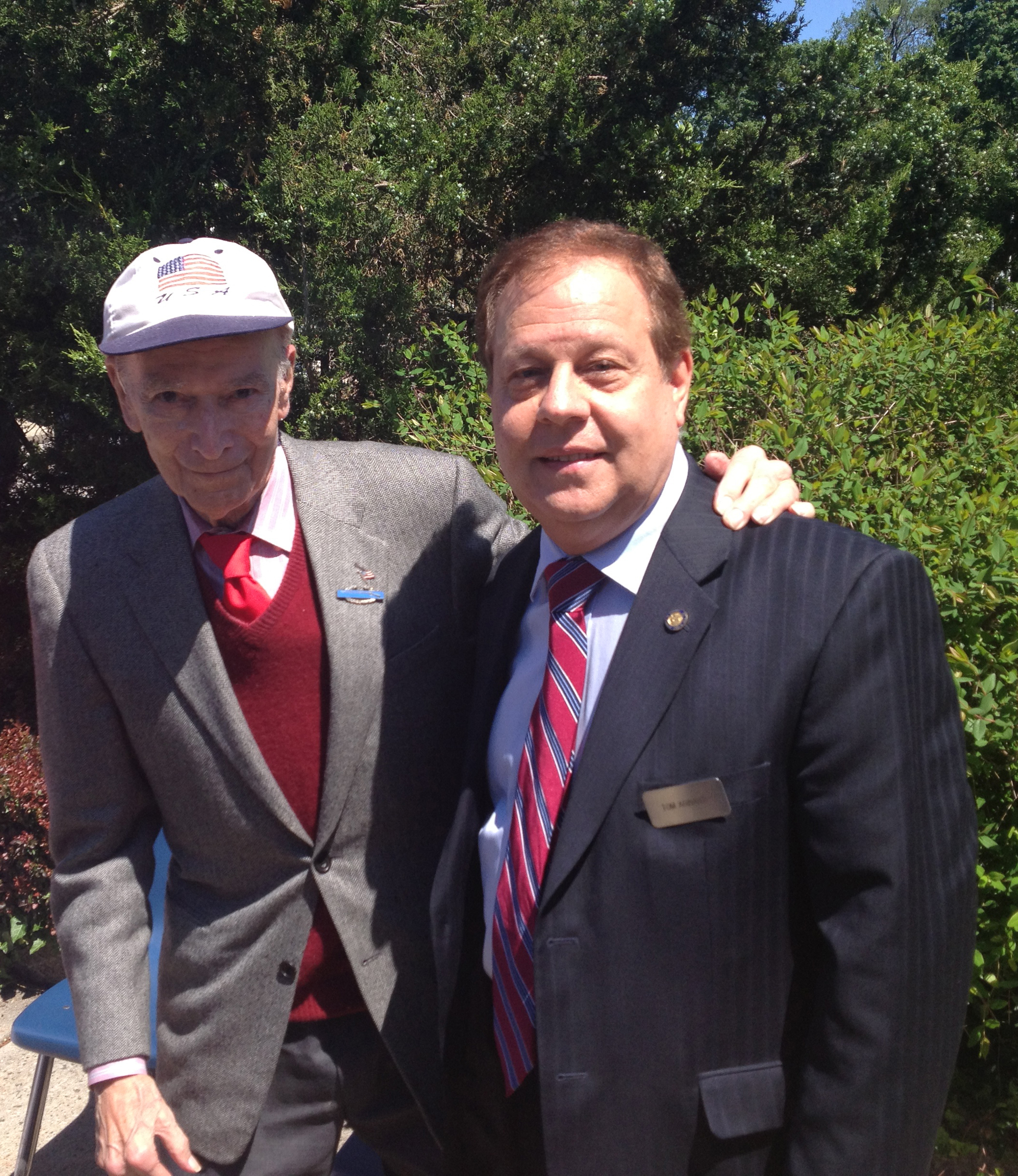Assemblyman Tom Abinanti with former Congressman Peter Peyser at the 2013 Irvington Memorial Day Celebration and Parade.