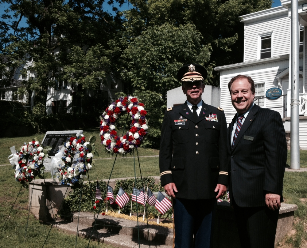 Assemblyman Abinanti at the Memorial Day event in Hastings-on-Hudson.