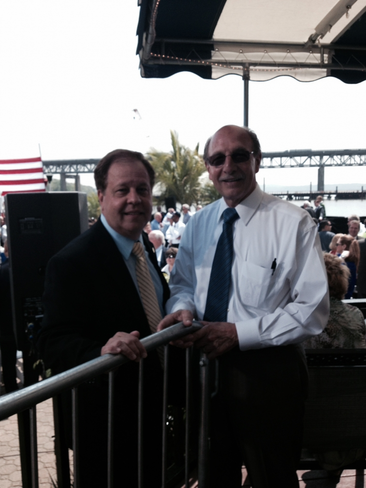 Assemblyman Abinanti with Ross Pepe, President of the Construction Industry Council.